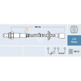 Lambdasonde Kabellänge: 800mm mit OEM-Nummer 89465-30490