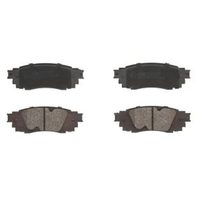 Brake Pad Set, disc brake Width: 121,2mm, Height: 42,8mm, Thickness: 14,5mm with OEM Number 04466-0E070