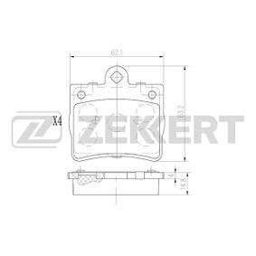 Bremsbelagsatz, Scheibenbremse Breite: 63,2mm, Dicke/Stärke: 14,8mm mit OEM-Nummer A002 420 5120
