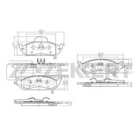 Bremsbelagsatz, Scheibenbremse Breite: 58,9mm, Dicke/Stärke: 15mm mit OEM-Nummer A16 342 00 320