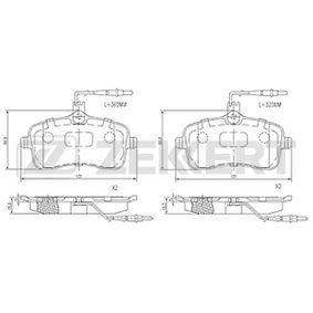 Bremsbelagsatz, Scheibenbremse Breite: 76,7mm, Dicke/Stärke: 18,3mm mit OEM-Nummer 4254 22
