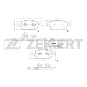 Bremsbelagsatz, Scheibenbremse Breite: 75mm, Dicke/Stärke: 17,3mm mit OEM-Nummer 7E0 698 151