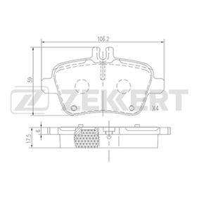 Bremsbelagsatz, Scheibenbremse Breite: 59mm, Dicke/Stärke: 17,5mm mit OEM-Nummer A 007 420 94 20