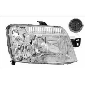 Headlight 20-0335-15-2 PANDA (169) 1.2 MY 2012