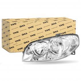 Headlight 20-0352-05-2 PUNTO (188) 1.2 16V 80 MY 2000