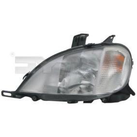 Hauptscheinwerfer für Fahrzeuge mit Leuchtweiteregelung (elektrisch), für Rechtsverkehr mit OEM-Nummer A 163 820 3761