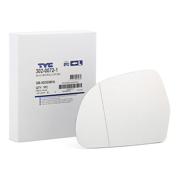 Außenspiegelglas 302-0072-1 TYC 302-0072-1 in Original Qualität