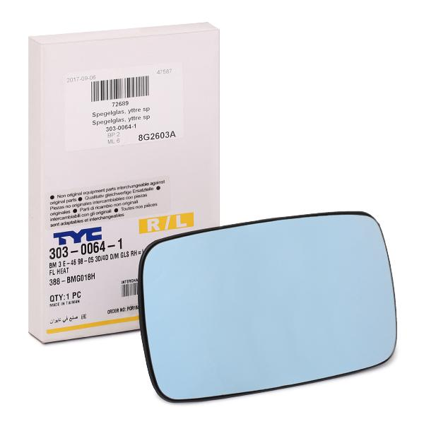 Außenspiegelglas 303-0064-1 TYC 303-0064-1 in Original Qualität