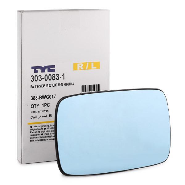Außenspiegelglas 303-0083-1 TYC 303-0083-1 in Original Qualität