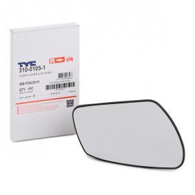 Mirror Glass, outside mirror with OEM Number 6S61-17K740-AA