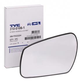 Mirror Glass, outside mirror with OEM Number 6S61-17K741-AA
