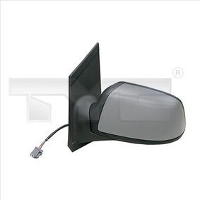 TYC Side view mirror Left, Electric, Convex, Electronically foldable, Heated, Primed, Black