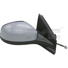 TYC Side view mirror Right, Convex, Electronically foldable, for electric mirror adjustment, Heated, with memory, Primed
