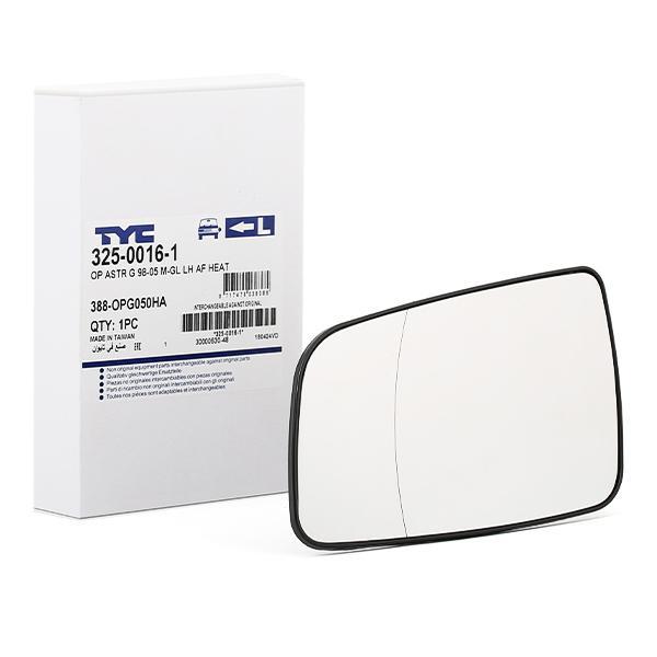 Außenspiegelglas 325-0016-1 TYC 325-0016-1 in Original Qualität