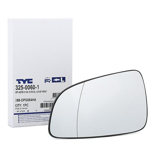 Außenspiegelglas 325-0060-1 TYC 325-0060-1 in Original Qualität