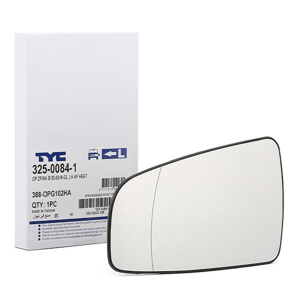 Cristal de Espejo Retrovisor 325-0084-1 TYC 325-0084-1 en calidad original
