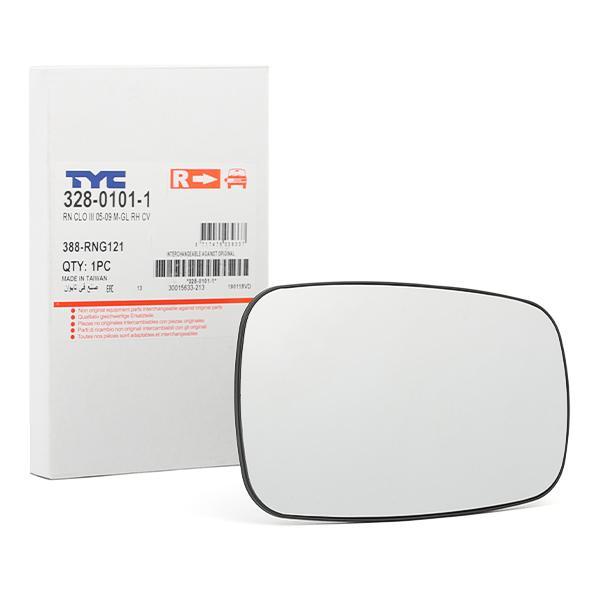 Außenspiegelglas 328-0101-1 TYC 328-0101-1 in Original Qualität
