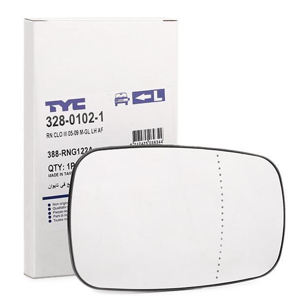 Außenspiegelglas 328-0102-1 TYC 328-0102-1 in Original Qualität