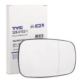 TYC  328-0102-1 Spiegelglas, Außenspiegel