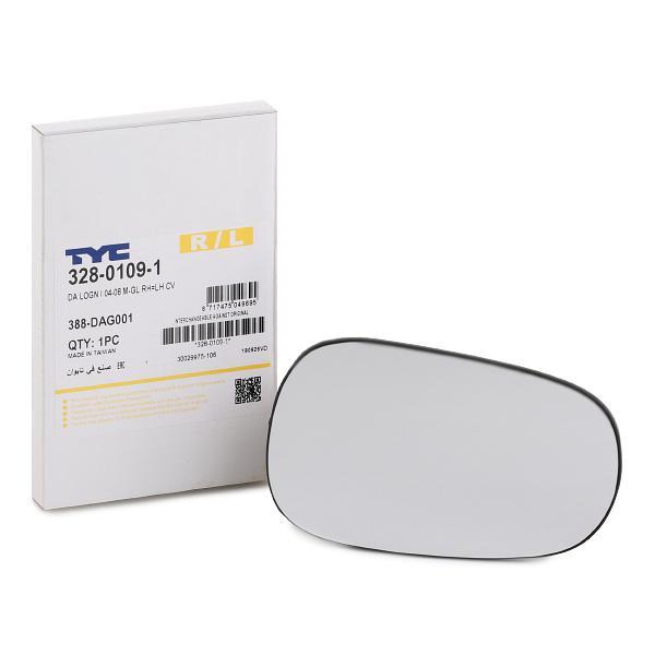Außenspiegelglas 328-0109-1 TYC 328-0109-1 in Original Qualität
