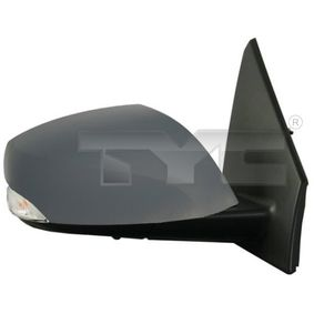 TYC Side view mirror Right, Convex, Electronically foldable, for electric mirror adjustment, Heated, Primed