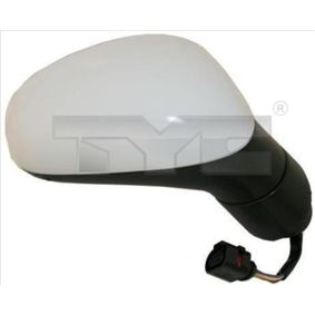 TYC Side view mirror Left, Aspherical, Electronically foldable, for electric mirror adjustment, Heated, Primed