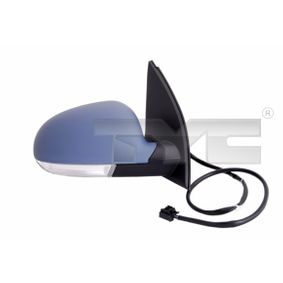 TYC Side view mirror Right, Electric, Convex, Electronically foldable, Heatable, Primed