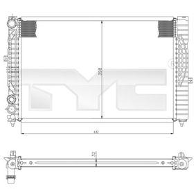 Wasserkühler VW PASSAT Variant (3B6) 1.9 TDI 130 PS ab 11.2000 TYC Kühler, Motorkühlung (702-0034) für