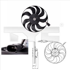 Lüfter, Motorkühlung 802-0001 TOURAN (1T1, 1T2) 1.9 TDI Bj 2004