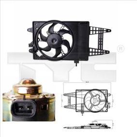 Fan, radiator 809-0004 PUNTO (188) 1.2 16V 80 MY 2000