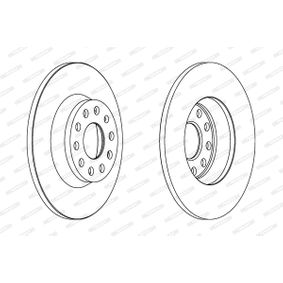 Bremsscheibe Bremsscheibendicke: 12mm, Lochanzahl: 5, Ø: 282mm mit OEM-Nummer 1K0 615 601M