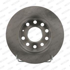 Bremsscheibe Bremsscheibendicke: 12mm, Lochanzahl: 10, Ø: 255mm mit OEM-Nummer 8E0.615.601D