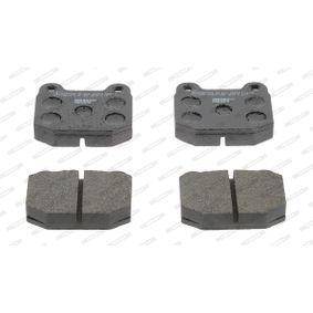 Bremsbelagsatz, Scheibenbremse Höhe 1: 66mm, Dicke/Stärke: 16,5mm mit OEM-Nummer 95 520 061
