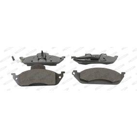 Bremsbelagsatz, Scheibenbremse Höhe 1: 77mm, Dicke/Stärke 1: 15,4mm, Dicke/Stärke: 16,4mm mit OEM-Nummer A 1634200320