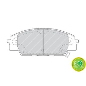 Brake Pad Set, disc brake Height 1: 52mm, Thickness: 16,6mm with OEM Number 45022-S2A-E50
