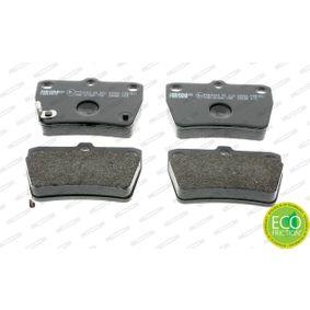 Brake Pad Set, disc brake FDB1531 RAV 4 II (CLA2_, XA2_, ZCA2_, ACA2_) 2.4 4WD MY 2004