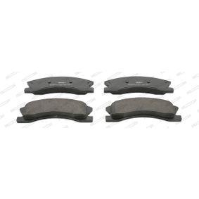 Bremsbelagsatz, Scheibenbremse Höhe 1: 61,05mm, Dicke/Stärke: 18,7mm mit OEM-Nummer 5093260AA