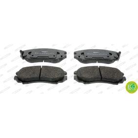 Bremsbelagsatz, Scheibenbremse Höhe 1: 60mm, Dicke/Stärke: 17mm mit OEM-Nummer 58101 29A20