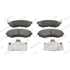 Bremsbelagsatz, Scheibenbremse Höhe 1: 53mm, Dicke/Stärke: 17,6mm mit OEM-Nummer 58101 29A80