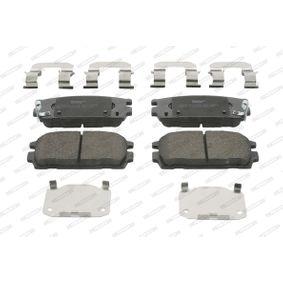 Bremsbelagsatz, Scheibenbremse Höhe 1: 46,5mm, Dicke/Stärke 1: 15,6mm, Dicke/Stärke: 16mm mit OEM-Nummer 58302-H1A00