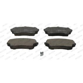Bremsbelagsatz, Scheibenbremse Höhe 1: 55mm, Dicke/Stärke: 15,4mm mit OEM-Nummer 55810 84E01 000