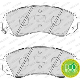 Bremsbelagsatz, Scheibenbremse Höhe 1: 64mm, Dicke/Stärke 1: 17,7mm, Dicke/Stärke: 18,2mm mit OEM-Nummer 58101-4DA00