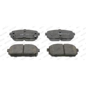 Bremsbelagsatz, Scheibenbremse Höhe 1: 44mm, Dicke/Stärke 1: 15,6mm, Dicke/Stärke: 16mm mit OEM-Nummer JZW 698 451 G