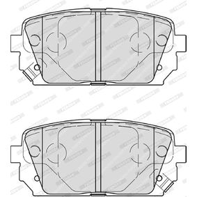 Bremsbelagsatz, Scheibenbremse Höhe 1: 44mm, Dicke/Stärke 1: 15,6mm, Dicke/Stärke: 16mm mit OEM-Nummer 3AA 698 451 A