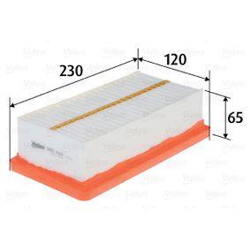 Luftfilter Länge: 230mm, Breite: 120mm, Höhe: 65mm, Länge: 230mm mit OEM-Nummer 7701 068 104