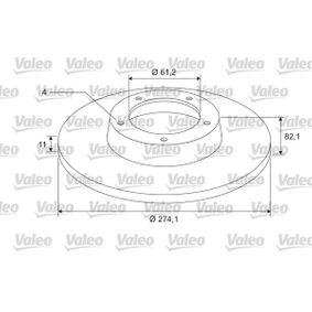 Bremsscheibe Bremsscheibendicke: 11mm, Felge: 4-loch, Ø: 274,1mm mit OEM-Nummer 7701 206 327