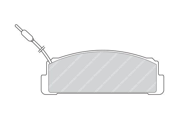 FERODO PREMIER FDB734 Bremsbelagsatz, Scheibenbremse Höhe 1: 39mm, Dicke/Stärke: 17,5mm