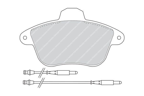 FERODO PREMIER FDB746 Bremsbelagsatz, Scheibenbremse Höhe 1: 73mm, Dicke/Stärke: 17mm