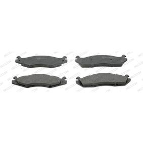Bremsbelagsatz, Scheibenbremse Höhe 1: 56mm, Höhe 2: 58mm, Dicke/Stärke: 15,5mm mit OEM-Nummer 21820