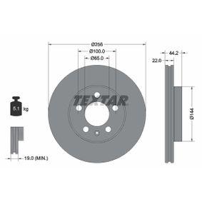 Bremsscheibe Bremsscheibendicke: 22,0mm, Ø: 256mm mit OEM-Nummer 2Q0 615 301 G